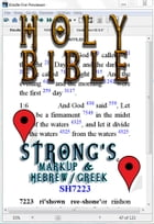 Holy Bible (KJV) with Strong's Markup and Hebrew/Greek Dictionaries (Fast Navigation, Search with NCX and Chapter Index) by King James Version