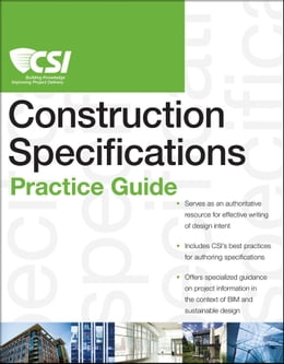 Book The CSI Construction Specifications Practice Guide by Construction Specifications Institute
