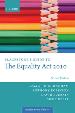 Book Blackstone's Guide to the Equality Act 2010 by John Wadham