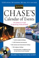 Chase's Calendar of Events 2009 (Book + CD-ROM) by Editors of Chase's Calendar of Events