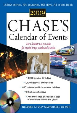 Book Chase's Calendar of Events 2009 (Book + CD-ROM) by Editors of Chase's Calendar of Events