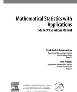 Book Mathematical Statistics with Applications, Student Solutions Manual by Ramachandran