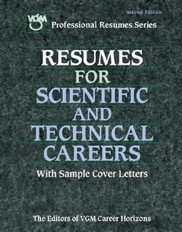 Book Resumes for Scientific and Technical Careers by VGM, Editors of
