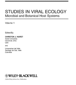 Studies in Viral Ecology Microbial and Botanical Host Systems
