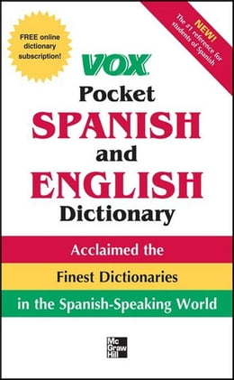Book Vox Pocket Spanish-English Dictionary by Vox