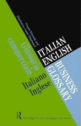 Book Italian/English Business Glossary by Edwards, Vincent