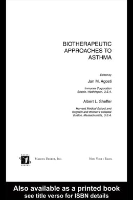 Book Biotherapeutic Approaches to Asthma by Agosti, Jan