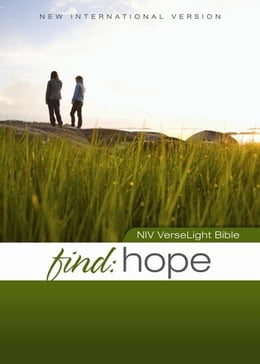 Book NIV, Find Hope: VerseLight Bible, eBook: Quickly Find Verses of Hope and Comfort for Hurting People by Christopher D. Hudson