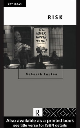 Book Risk by Lupton, Deborah, Professor