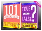 And the Mountains Echoed - 101 Amazing Facts & True or False?: Fun Facts and Trivia Tidbits Quiz Game Books by G Whiz
