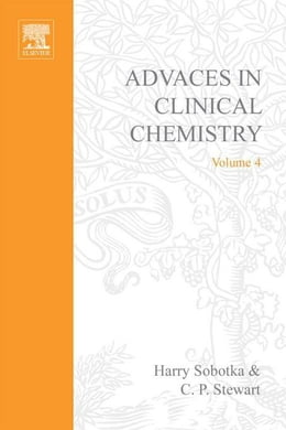 Book Advances in Clinical Chemistry by Sobotka, Harry