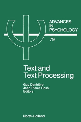 Book Text and Text Processing by Denhiere, G.