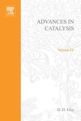 Book Advances in Catalysis by FARKAS, ADALBERT