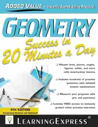 Geometry Success in 20 Minutes a Day by LearningExpress LLC