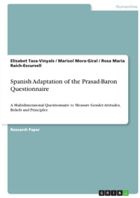 Spanish Adaptation of the Prasad-Baron Questionnaire: A Multidimensional Questionnaire to Measure…