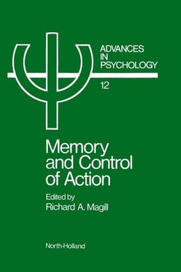 Book Memory and control of action by Unknown, Author