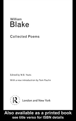 Book Collected Poems by Yeats, William Blakew B.