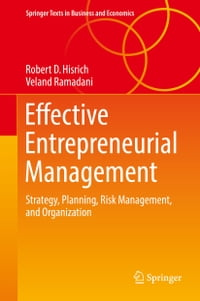 Effective Entrepreneurial Management: Strategy, Planning, Risk Management, and Organization