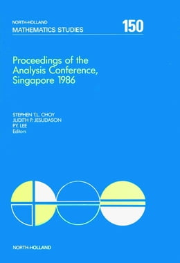 Book Proceedings of the Analysis Conference, Singapore 1986 by Choy, S. T. L.