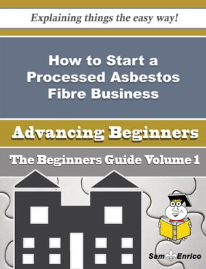 How to Start a Processed Asbestos Fibre Business (Beginners Guide): How to Start a Processed Asbestos Fibre Business (Beginners Guide) by Janise Brackett