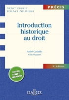 Introduction historique au droit by André Castaldo