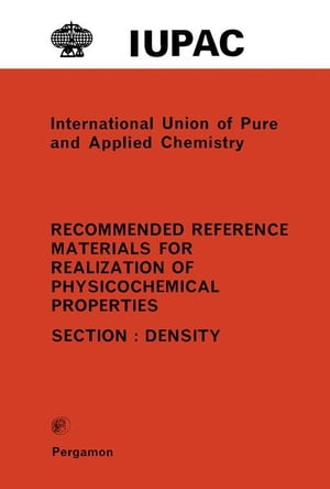 Recommended Reference Materials for Realization of Physicochemical Properties: Density