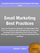 Email Marketing Best Practices: Easy and Inexpensive Strategies for Making Big Profits From Your Business With Email Marketing Tools by Deborah T. William