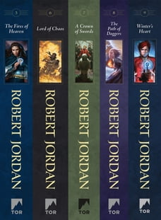The Wheel of Time, Books 5-9: (The Fires of Heaven, Lord of Chaos, A Crown of Swords, The Path of…