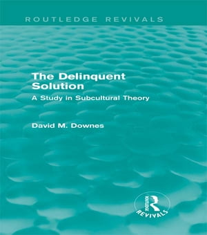 The Delinquent Solution (Routledge Revivals) A Study in Subcultural Theory