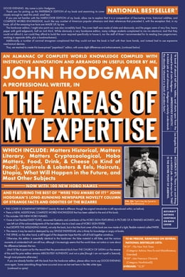 Book The Areas of My Expertise by John Hodgman