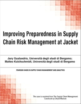 Book Improving Preparedness in Supply Chain Risk Management at Jacket by Chuck Munson