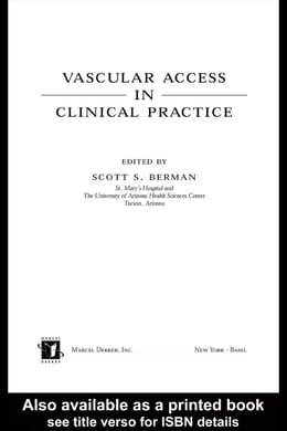 Book Vascular Access in Clinical Practice by Berman, Scott