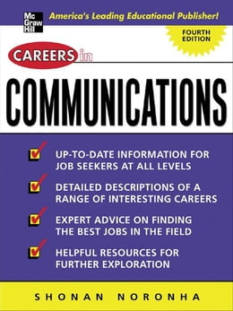 Book Careers in Communications by Noronha, Shonan