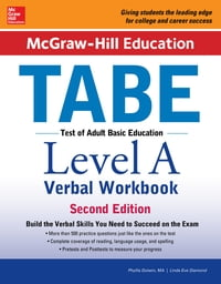 McGraw-Hill Education TABE Level A Verbal Workbook, 2nd edition