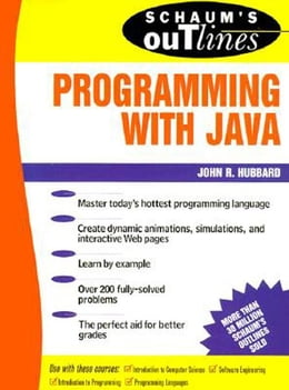 Book Schaum's Outlines of Programming with Java by Hubbard, John