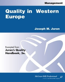 Book Quality in Western Europe by Juran, Joseph M