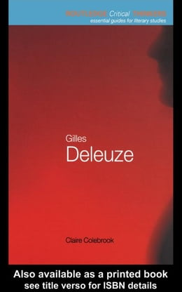 Book Gilles Deleuze by Colebrook, Claire