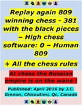 Replay 809 Winning Chess - 381 With the Black Pieces - High Chess Software: 0 - Human: 809; + All the Chess Rules fee3a737-6d0e-4229-a6a8-35c0f316f01a