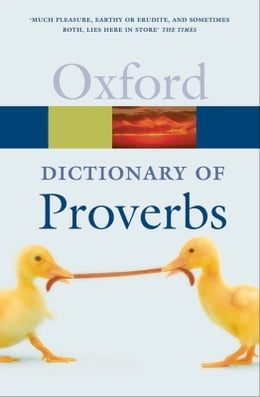 Book A Dictionary of Proverbs by Jennifer Speake