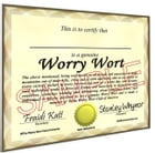 Worry Wort Certificate and Membership Card by Bob Proko