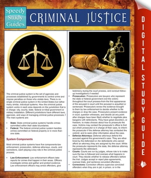 Criminal Justice (Speedy Study Guides) by Speedy Publishing
