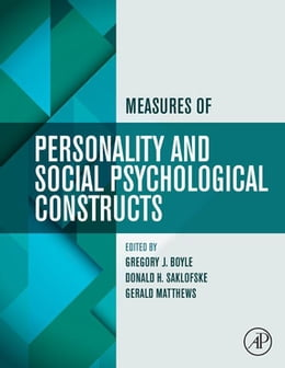 Book Measures of Personality and Social Psychological Constructs by Gregory J. Boyle