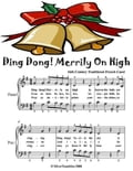 Ding Dong Merrily On High - Easy Piano Sheet Music Junior Edition 83bd0404-826f-457a-b61a-e9aff3958b0b