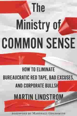 The Ministry of Common Sense: How to Eliminate Bureaucratic Red Tape, Bad Excuses, and Corporate BS by Martin Lindstrom