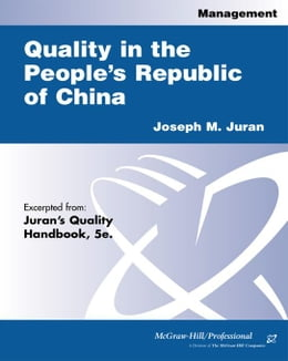 Book Quality in the People's Republic of China by Juran, Joseph M