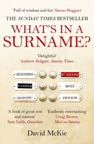 What's in a Surname? A Journey from Abercrombie to Zwicker