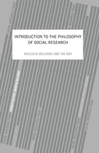 An Introduction To The Philosophy Of Social Research