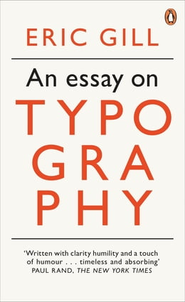 Book An Essay on Typography by Eric Gill