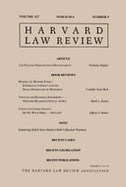 Harvard Law Review: Volume 127, Number 5 - March 2014 by Harvard Law Review