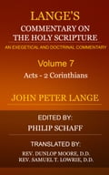 Langes Commentary on the Holy Scripture, Volume 7